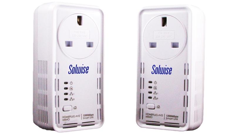 Solwise SmartLink 1200AV2 HomePlug Powerline Adapter